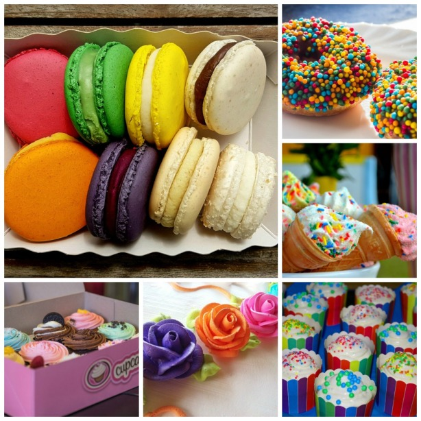 Pastry Entertaining inspirations with multi-colored theme. #entertaining #multi-colored #party #decorations #pastry