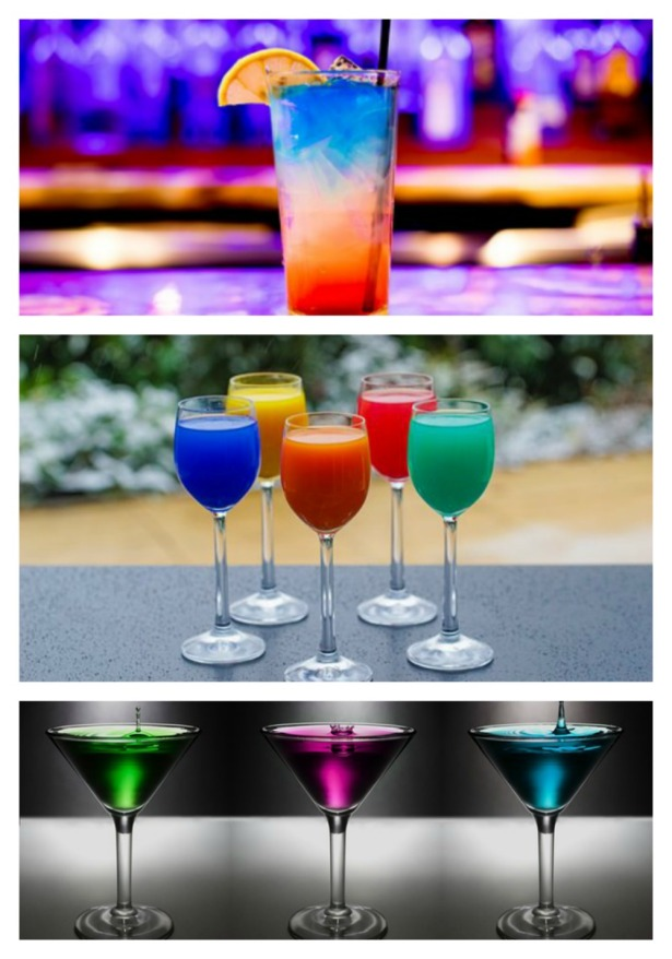Cocktails. Entertaining inspirations with multi-colored theme. #entertaining #multi-colored #party #decorations #cocktails