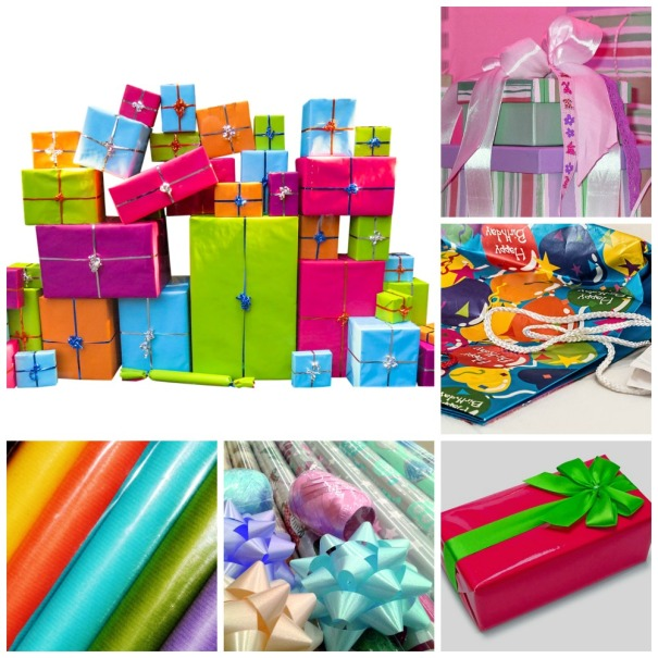 Presents Entertaining inspirations with multi-colored theme. #entertaining #multi-colored #party #decorations #presents