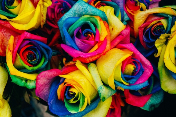 Roses Entertaining inspirations with multi-colored theme. #entertaining #multi-colored #party #decorations #roses