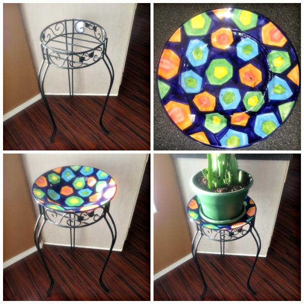 DIY Plant Stand Make Over #DIY #Plantstand #Upcycle #Makeover #trashtotreasure